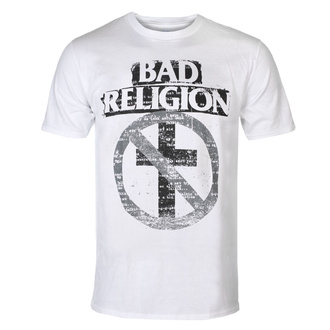 koszulka męska Bad Religion - Typewriter Crossbuster - White, KINGS ROAD, Bad Religion