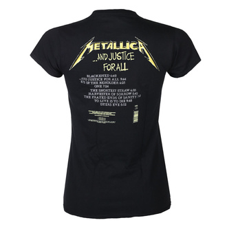 Damski t-shirt METALLICA - AND JUSTICE FOR ALL TRACKS - BLACK - PLASTIC HEAD, PLASTIC HEAD, Metallica
