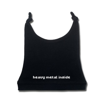 Czapka dziecięca heavy metal inside in white - black - Metal-Kids, Metal-Kids