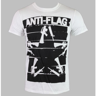 koszulka męska Anti-Flag - Kanał Tape Guns Star - White - KINGS ROAD, KINGS ROAD, Anti-Flag