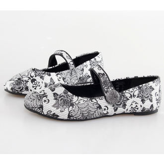 buty damskie (baleriny) IRON FIST - Midnight Wdowa - White, IRON FIST