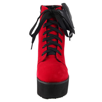 buty - Bat Wing Boot Red Velvet - IRON FIST, IRON FIST