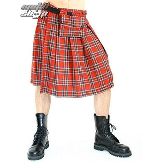 kilt męski Black Pistol - Short Kilt Tartan Red, BLACK PISTOL
