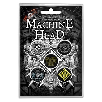 przypinki Machine Head - Crest - RAZAMATAZ, RAZAMATAZ, Machine Head
