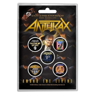przypinki Anthrax - Among The Living - RAZAMATAZ, RAZAMATAZ, Anthrax