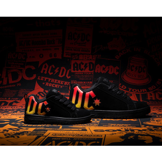 buty DC - AC/DC - HIGHWAY TO HELL - BLACK/BLACK/ORANGE, DC, AC-DC