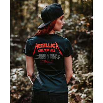 Damski t-shirt METALLICA - KILL EM ALL TRACKS - BLACK - PLASTIC HEAD, PLASTIC HEAD, Metallica