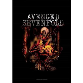 flaga Avenged Sevenfold - Fire Bat, HEART ROCK, Avenged Sevenfold
