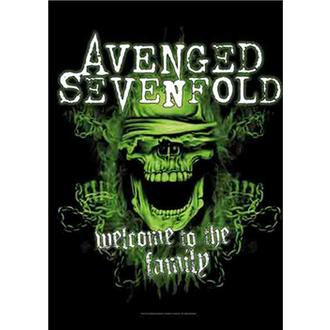 flaga Avenged Sevenfold - Welcome to the Family, HEART ROCK, Avenged Sevenfold