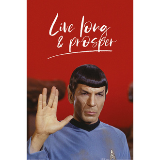 plakat STAR TREK - LIVE LONG AND PROSPER - PYRAMID POSTERS, PYRAMID POSTERS, Star Trek