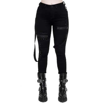 spodnie damskie KILLSTAR - Spiked - BLACK, KILLSTAR