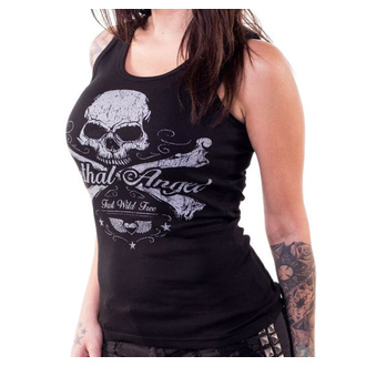 koszulka damska LETHAL THREAT - ANGEL SKULL N CROSSBONES, LETHAL THREAT