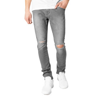spodnie męskie URBAN CLASSICS - Slim Fit Knee Cut Denim, URBAN CLASSICS