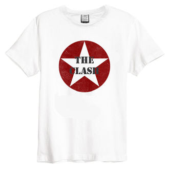 koszulka męska The Clash - Star Logo - White - AMPLIFIED, AMPLIFIED, Clash