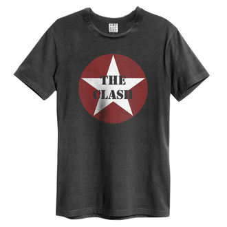 koszulka męska The Clash - Star Logo - Charcoal - AMPLIFIED, AMPLIFIED, Clash