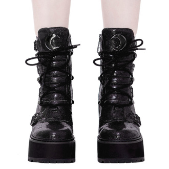 buty damskie KILLSTAR - Broom Rider Boots - BLACK GLITTER, KILLSTAR