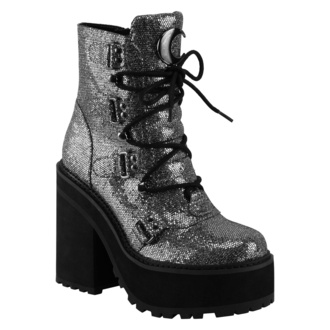 buty damskie KILLSTAR - Broom Rider Boots - SILVER GLITTER, KILLSTAR
