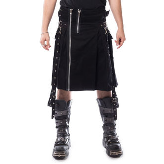 męski kilt CHEMICAL BLACK - CARL - CZARNY, CHEMICAL BLACK