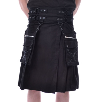 kilt męski Poizen Industries - CATO - BLACK, POIZEN INDUSTRIES