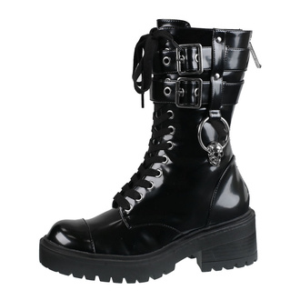buty damskie KILLSTAR - Bones O-Ring - BLACK, KILLSTAR