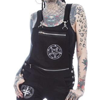 szorty damskie Heartless - MAIA DUNGAREES - BLACK, HEARTLESS