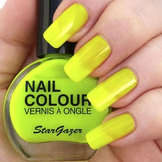 lakier do paznokci STAR GAZER - Neon Yellow, STAR GAZER