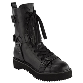 buty damskie KILLSTAR - Eris Combat - BLACK, KILLSTAR