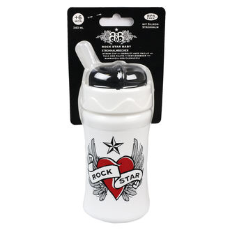 dziecięcy butelka (340ml) ROCK STAR BABY - Heart & Wings, ROCK STAR BABY