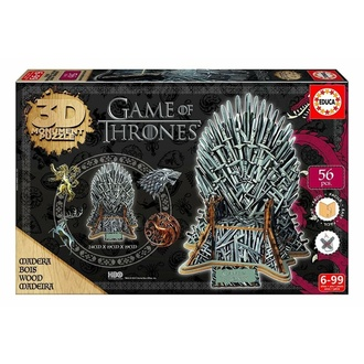 Puzzle Game of Thrones - 3D Monument - Iron Throne, NNM, Game of thrones