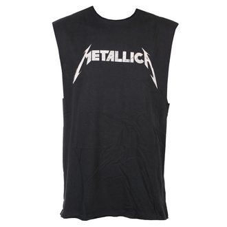 koszulka unisex Metallica - White Logo - CHARCOAL - AMPLIFIED, AMPLIFIED, Metallica